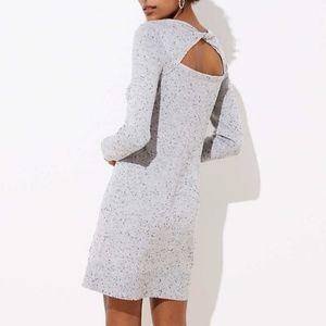 Classy marked peep back sweater dress by Loft